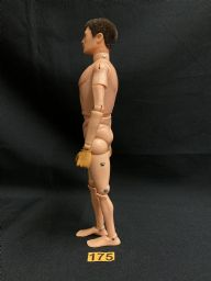 VINTAGE  ACTION MAN -  Nude with Brown Flocked Hair & Gripping Hands Ref175